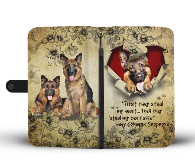 Nh 2 German Shepherd Torn Wallet Case