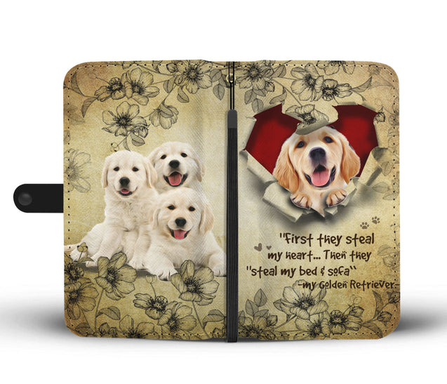 Nh 2 Golden Retriever Torn Wallet Case