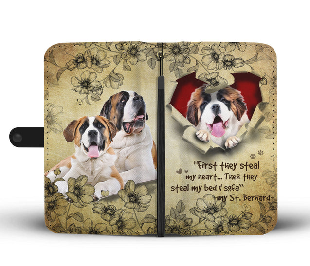 Nh 2 ST Bernard Torn Wallet Case