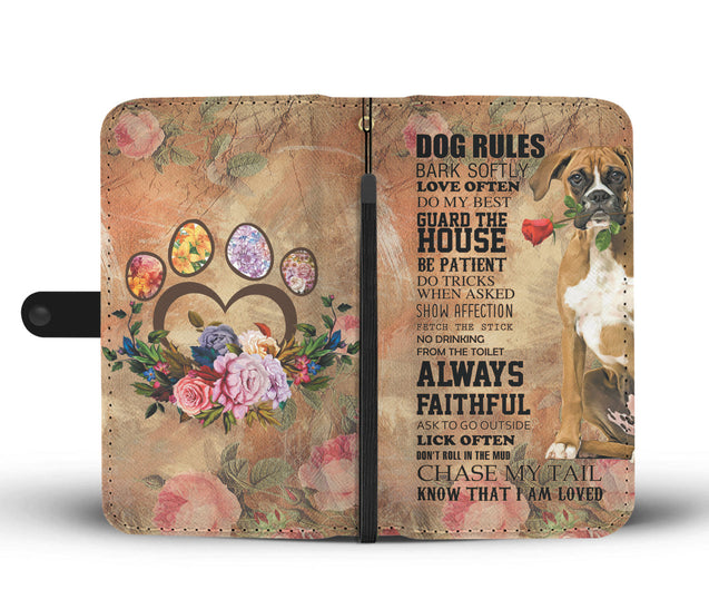 TR My Faithful Boxer Dog Wallet Case