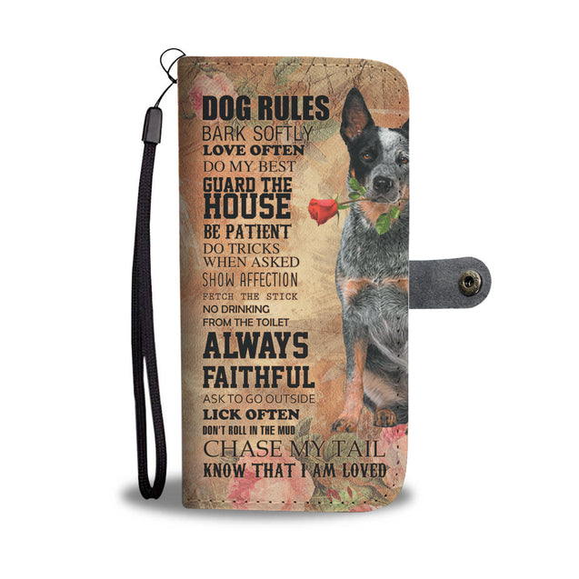 TR My Faithful Heeler Dog Wallet Case