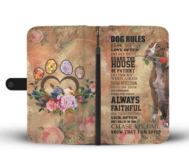 TR My Faithful Pitbull Dog Wallet Case