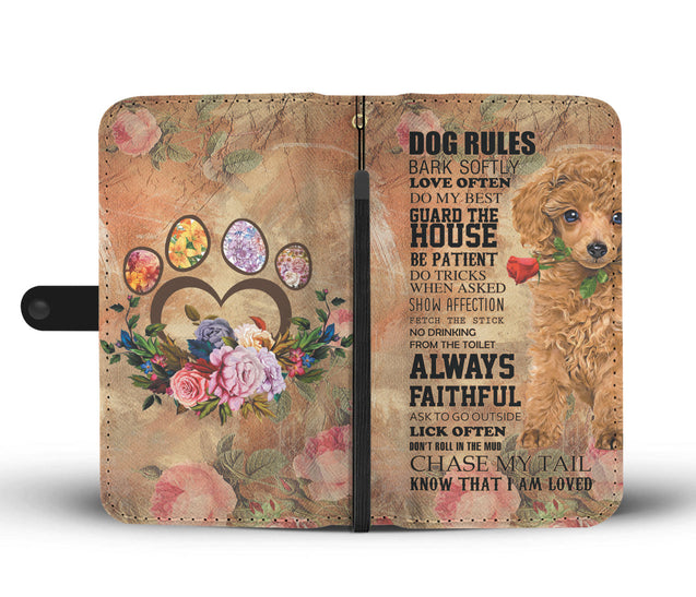 TR My Faithful Poodle Dog Wallet Case