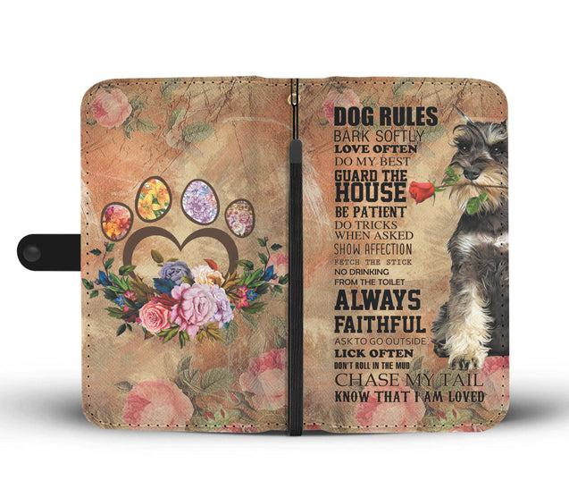 TR My Faithful Schnauzers Dog Wallet Case