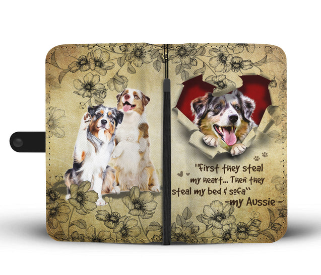 Nh 2 Australian Shepherd Torn Wallet Case