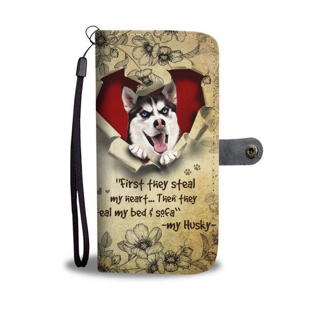 Nh 2 Siberian Husky Torn Wallet Case
