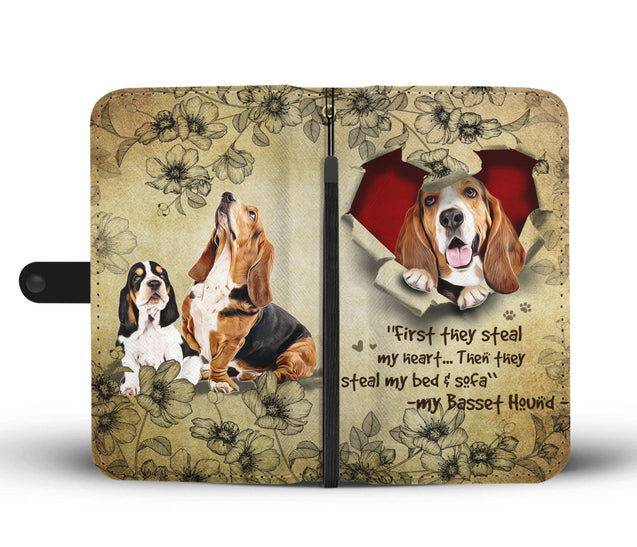 Nh 2 Basset Hound Torn Wallet Case
