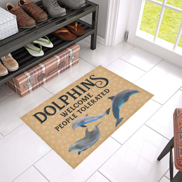 Nh 1 Dolphins Welcome doormats