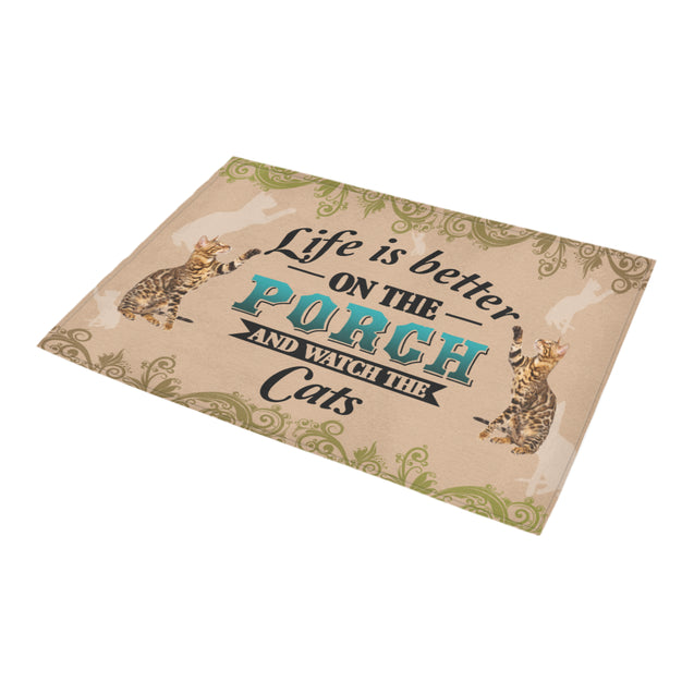 TD 8 Life Is Better With Cats Doormat