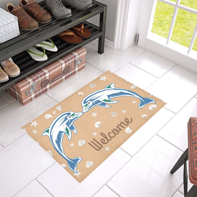 ln dolphin welcome doormat