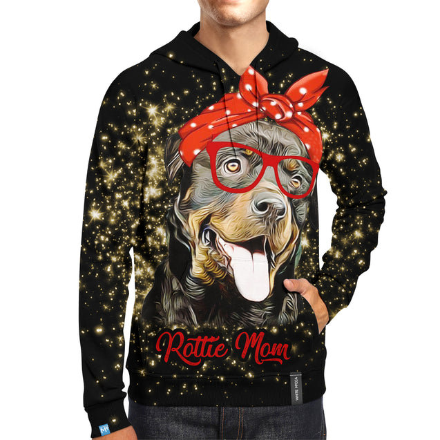 nh Rottweiler Mom Sparkle Hoodie
