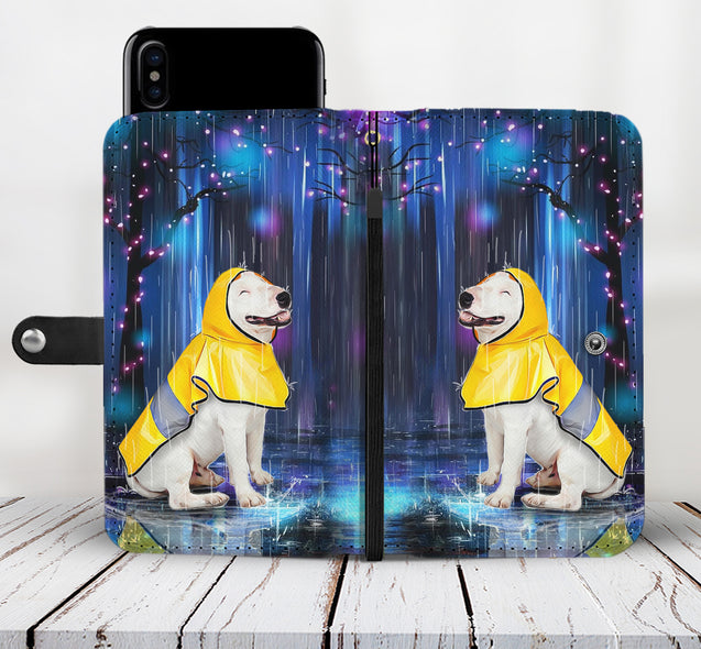 TD 2 Bull Terrier Watching The Rain Wallet Case