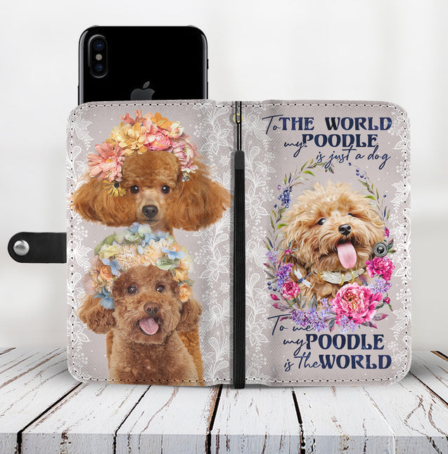 TD Poodle Is The World Wallet Case