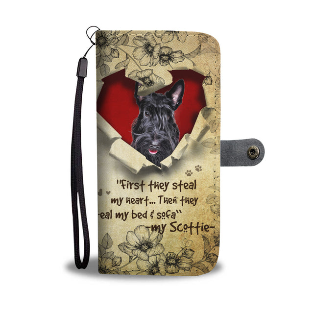 Nh 2 Scottish Terrier Torn Wallet Case