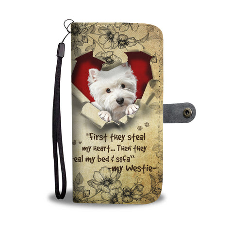Nh 2 Westie Torn Wallet Case