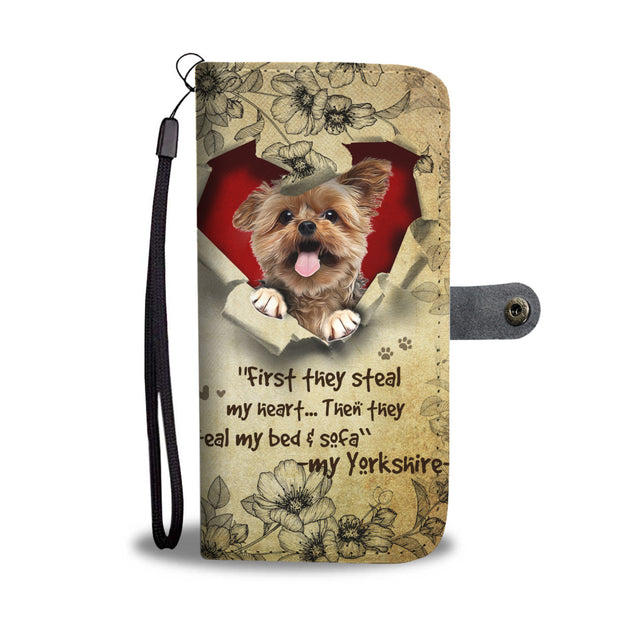 Nh 2 Yorkie Torn Wallet Case