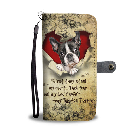 Nh 2 Boston Terrier Torn Wallet Case