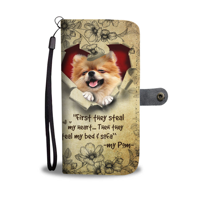 Nh 2 Pomeranian Torn Wallet Case