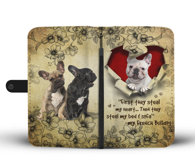Nh 2 French Bulldog Torn Wallet Case