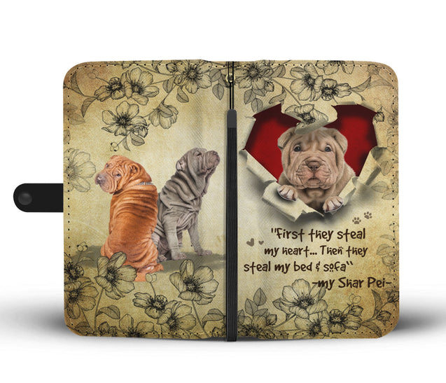 Nh 2 Shar Pei Torn Wallet Case