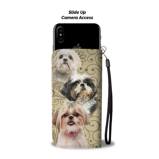 ln  shih tzu pattern wallet case