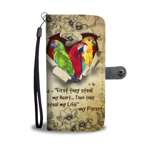 Nh 2 Parrot Torn Wallet Case