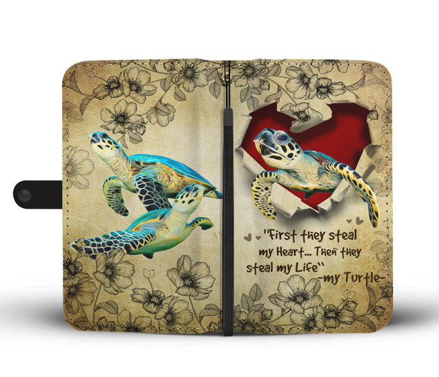 Nh 2 Turtle Torn Wallet Case