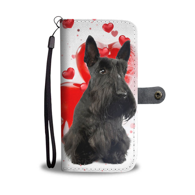 ln scottish terrier heart wallet case