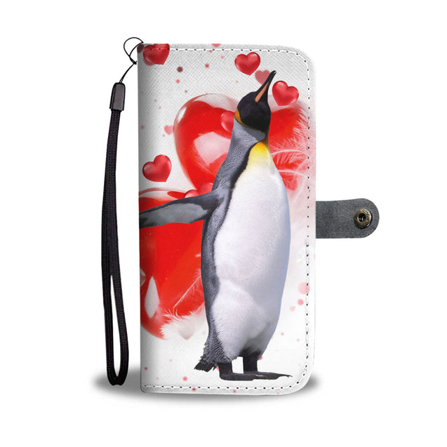 ln penguin heart wallet case