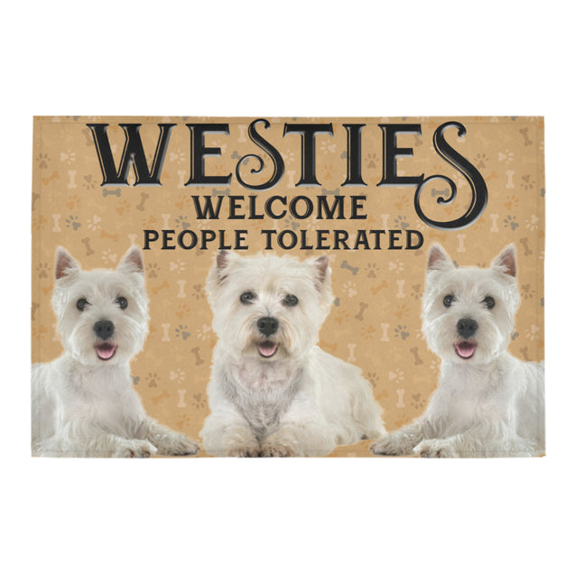 Nh 1 West Highland White Welcome doormats