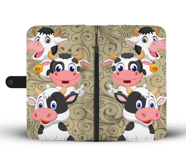 ln cow pattern wallet case