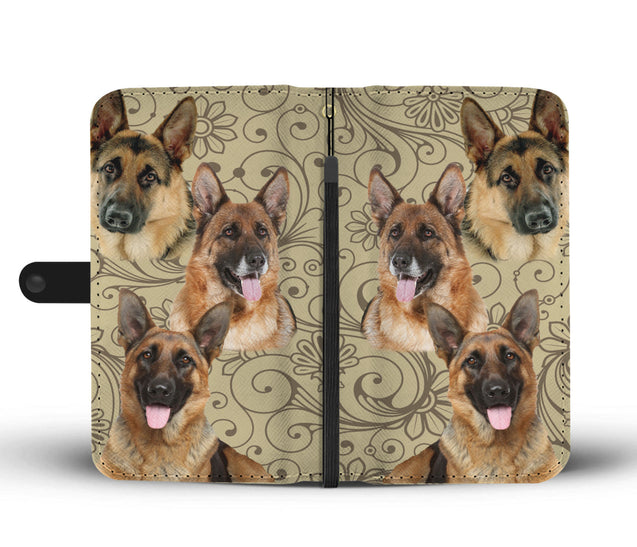 ln german shepherd pattern wallet case