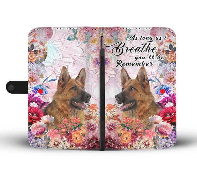 nh 6 german shepherd breathe remember wallet case