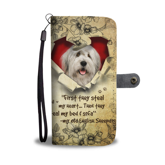 Nh 2 Old English Sheepdog Torn Wallet Case