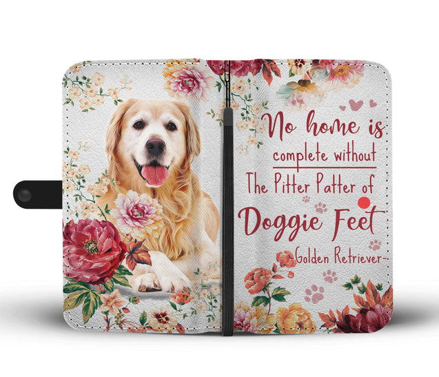 TD Golden Retriever Pitter Patter Wallet Case