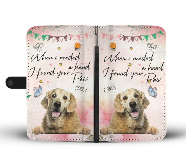 ln 1 golden retriever your paw wallet case