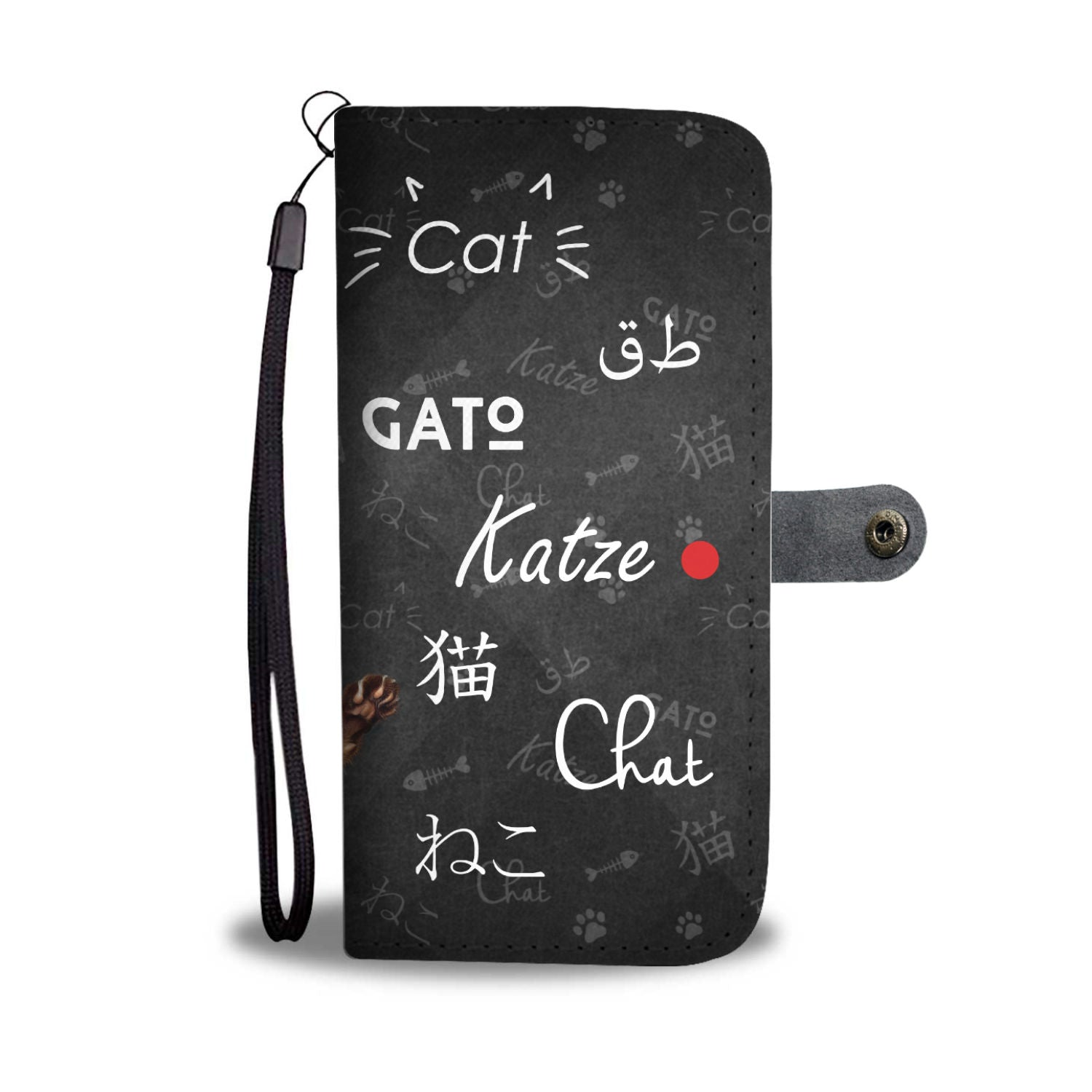 TR Cat Katze Wallet Case