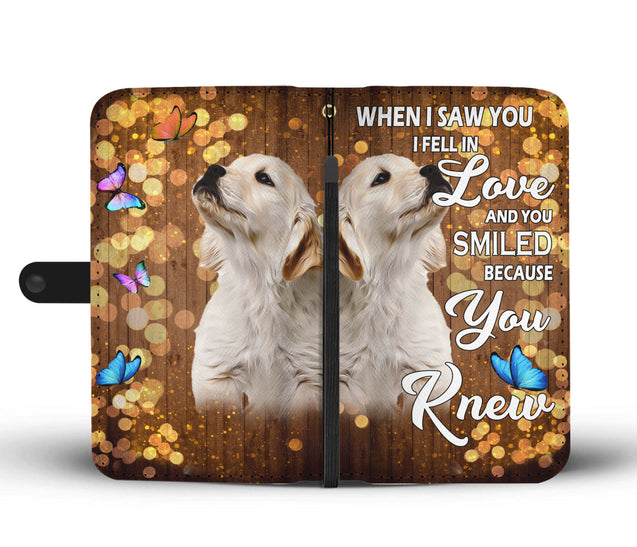 nh 6 golden retriever love wallet case