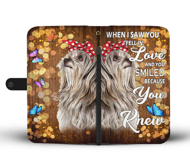 nh 6 shih tzu love wallet case