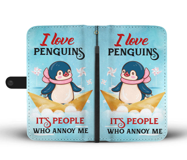 ln 1 penguin people annoy me wallet case