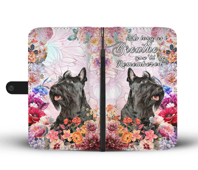 nh 6 scottish terrier remembered wallet case