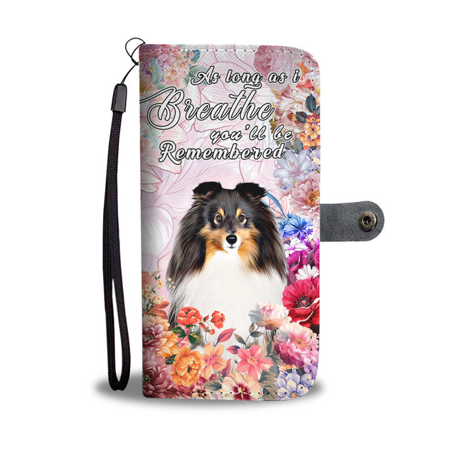 nh 6 sheltie remembered wallet case