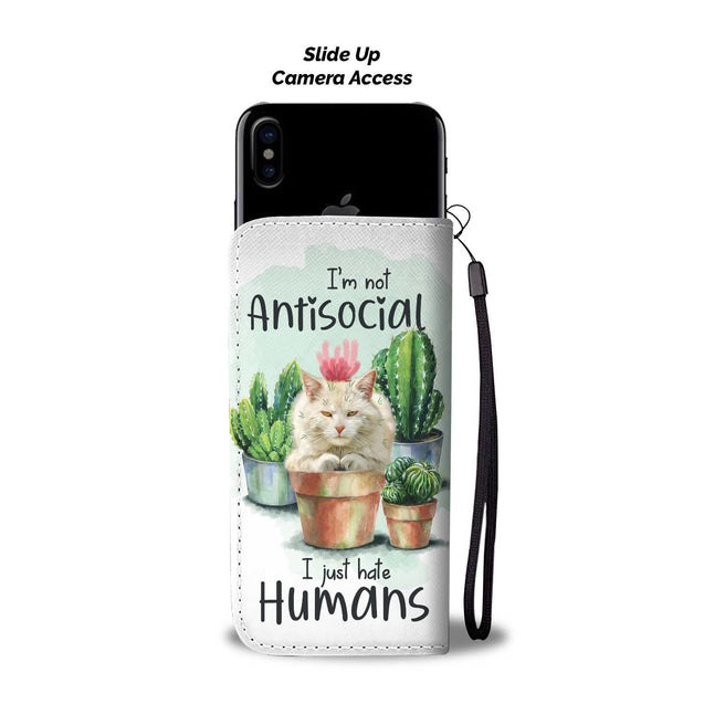 nh 2 cats are not antisocial wallet case