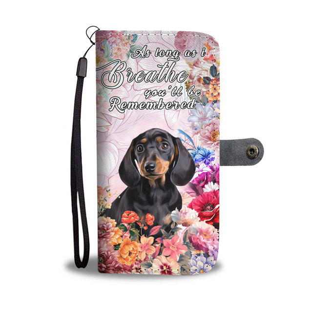 nh 6 dachshund remembered wallet case