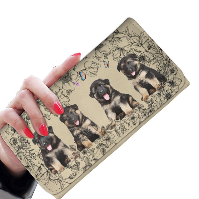 Nh 6 German Shepherd Flower Womens Wallet