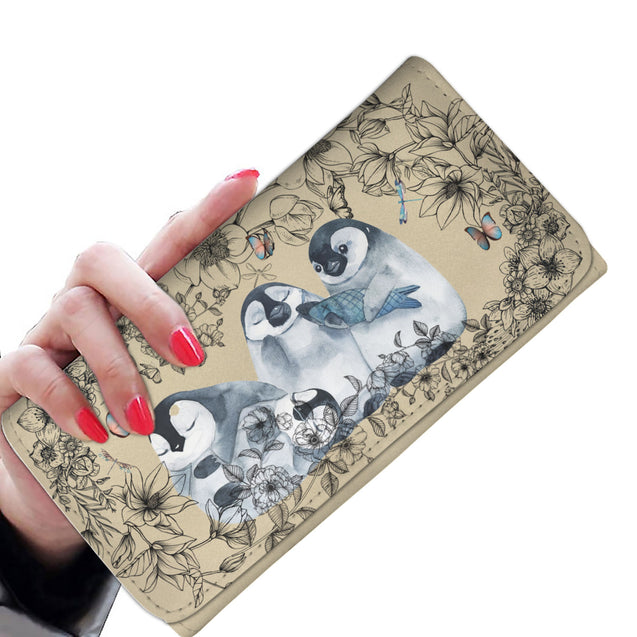 nh 6 penguin flower womens wallet