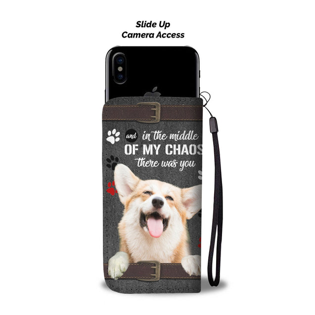 ln 1 corgi there were you wallet case