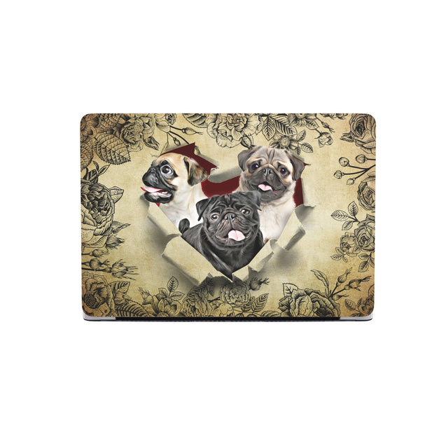 TR Pug Hard Shell Macbooks Case