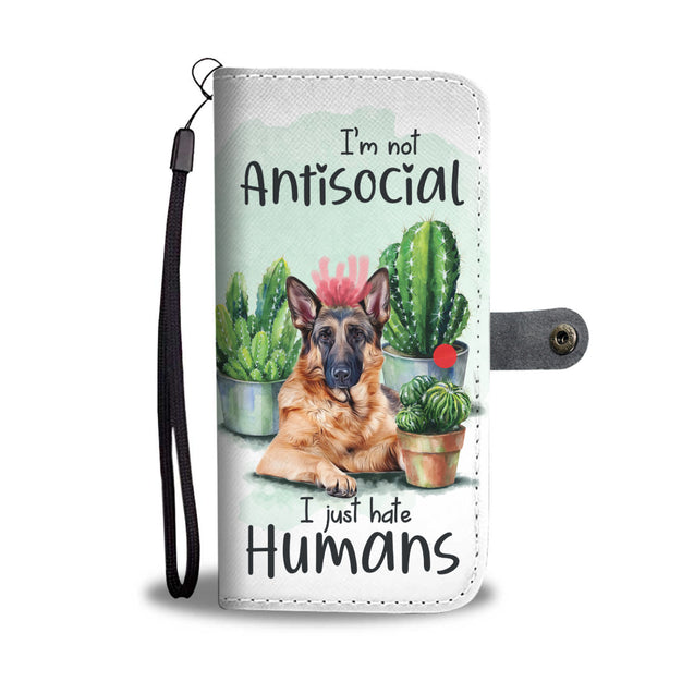 nh 2 german shepherd antisocial wallet case