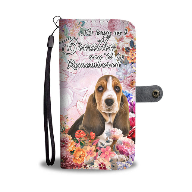 nh 6 basset hound remembered wallet case